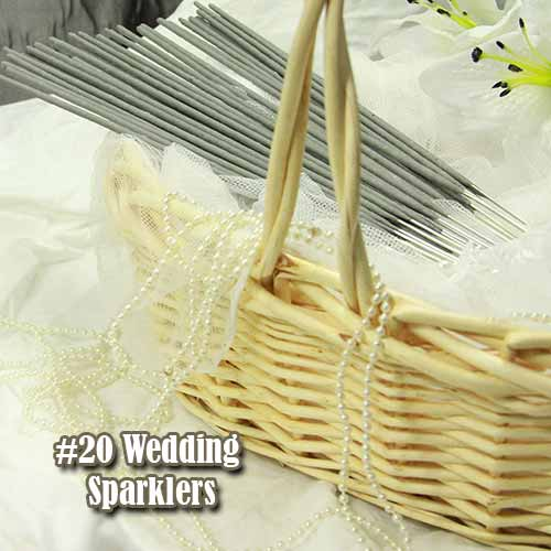 #20 wedding sparklers