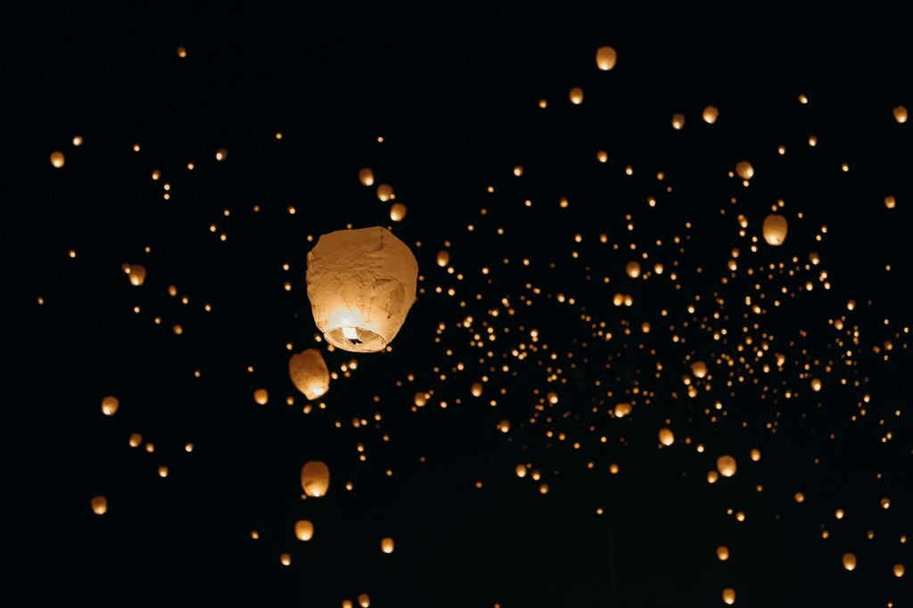 Wedding sky lanterns - 2021 photography trend