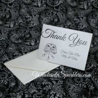 Blank Wedding Thank You Cards