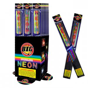10pc #20 Neon Sparklers  2 Packages of 5 Sparklers