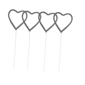 6 pack Budget Heart Sparklers