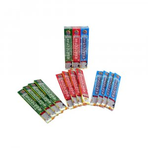 384pc #10 Colored Sparklers, Red - Green - Gold— 4 Packages with 12 Boxes of 8 Sparklers