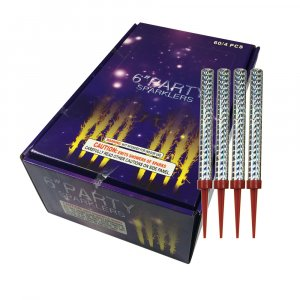 4pc Pack Big Birthday Cake Sparklers burns approx. 45 seconds