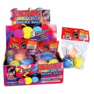 3pk Jumbo Color Smoke Balls