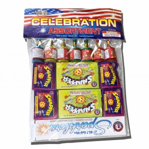 Celabration Assortment -  Sparklers, Snaps and Party Poppers