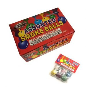 240 Packs 6pc Color Smoke Balls - Full Case