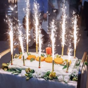 8pc Pack Big Birthday Cake Sparklers burns approx. 45 seconds