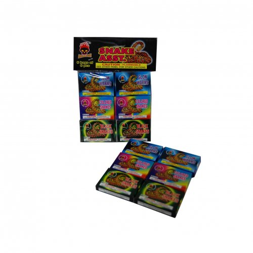 Assorted Color Snake 6 Packs of 6
