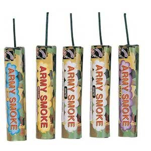 5 Pack Army Colored Smoke