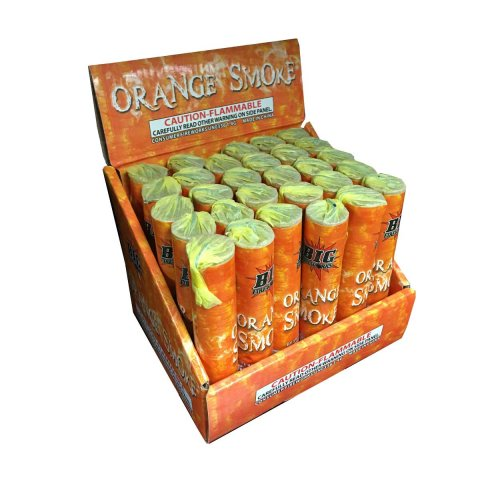 1pc Orange Smoke Bomb