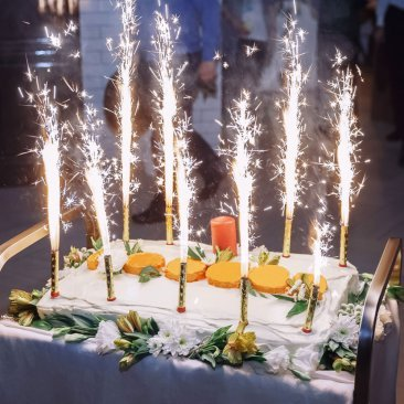 Birthday Cake Sparklers 8pc Pack Big Burns Approx 45 Seconds